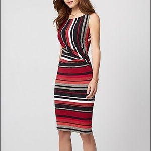 👗 Le chateau stripe knit boat neck dress